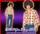 FANCY DRESS # 1970'S MENS PATCHWORK DENIM FLARES MEDIUM